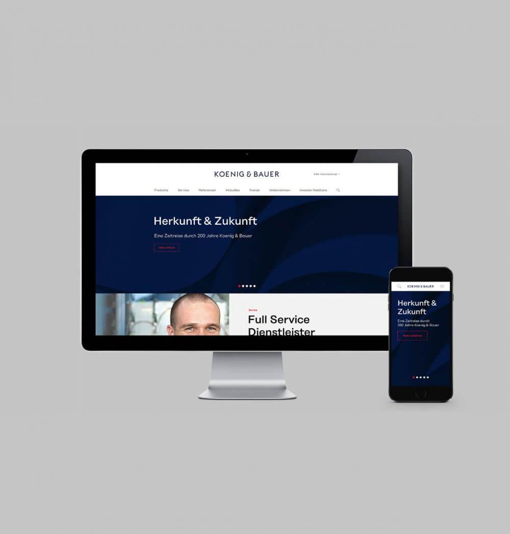 Koenig & Bauer Varijet Designsprache UX-Research UI Design Strategie Produktfamilie Innovation Tradition CI CD