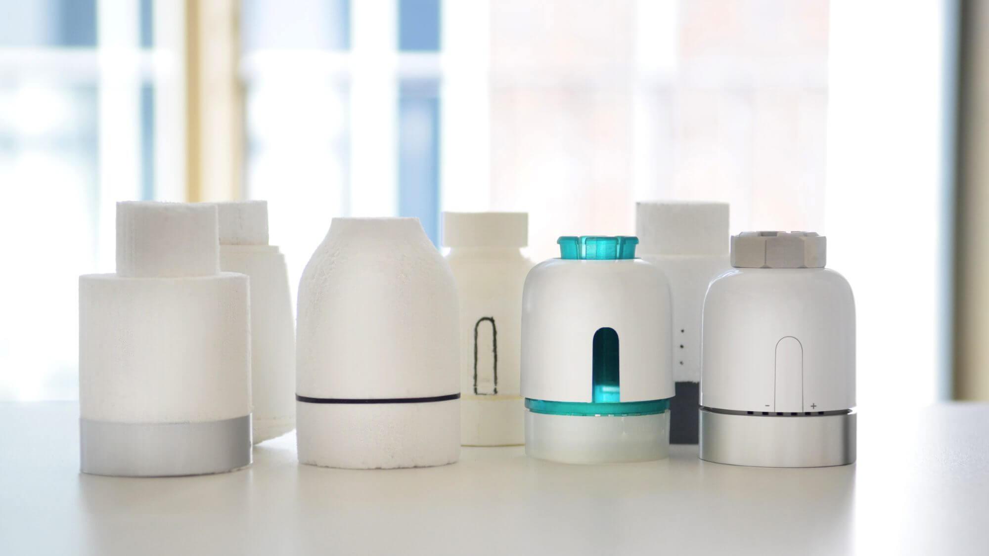 Vilisto Smart Home Thermostat Start-up Vormodelle Process Mock-up