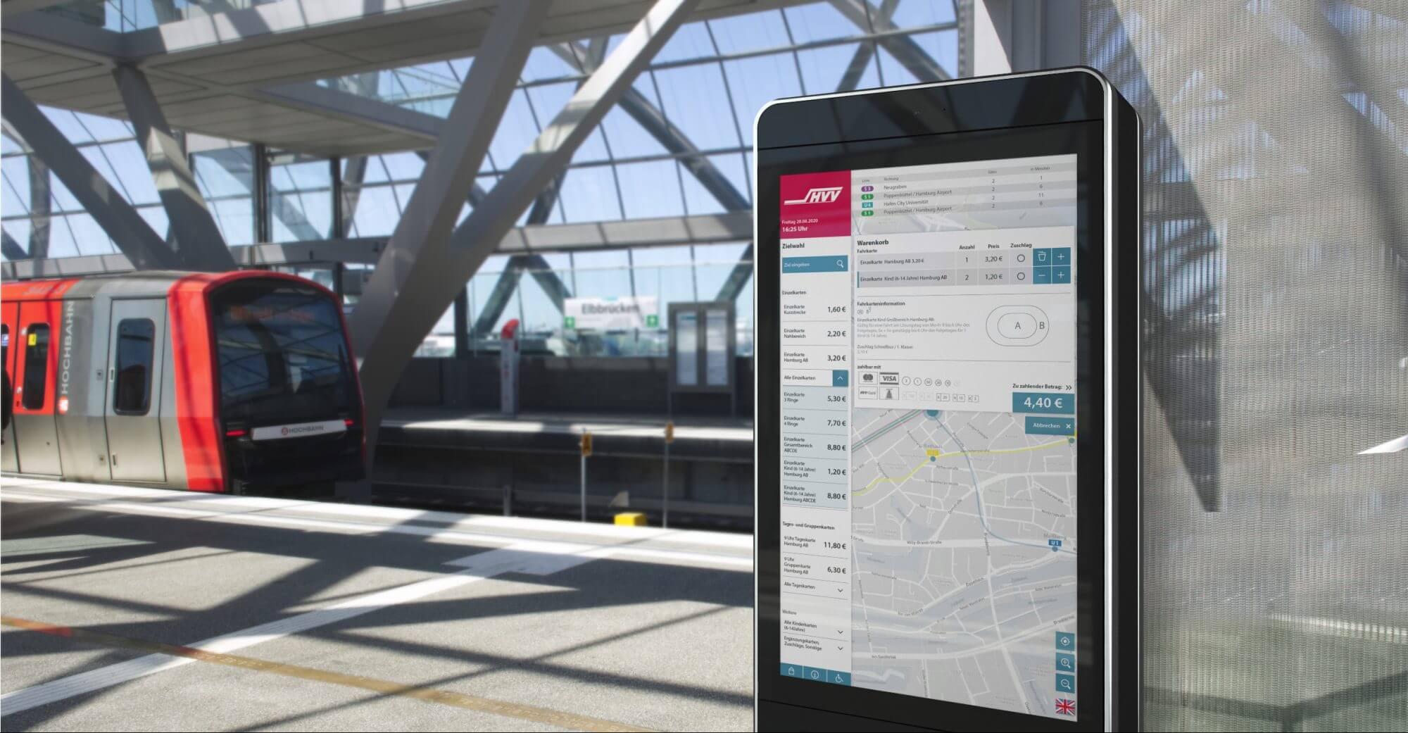 Hochbahn Ticketautomat Interface %Innovation %Kundenfokus %UX/UI Design vending machine
