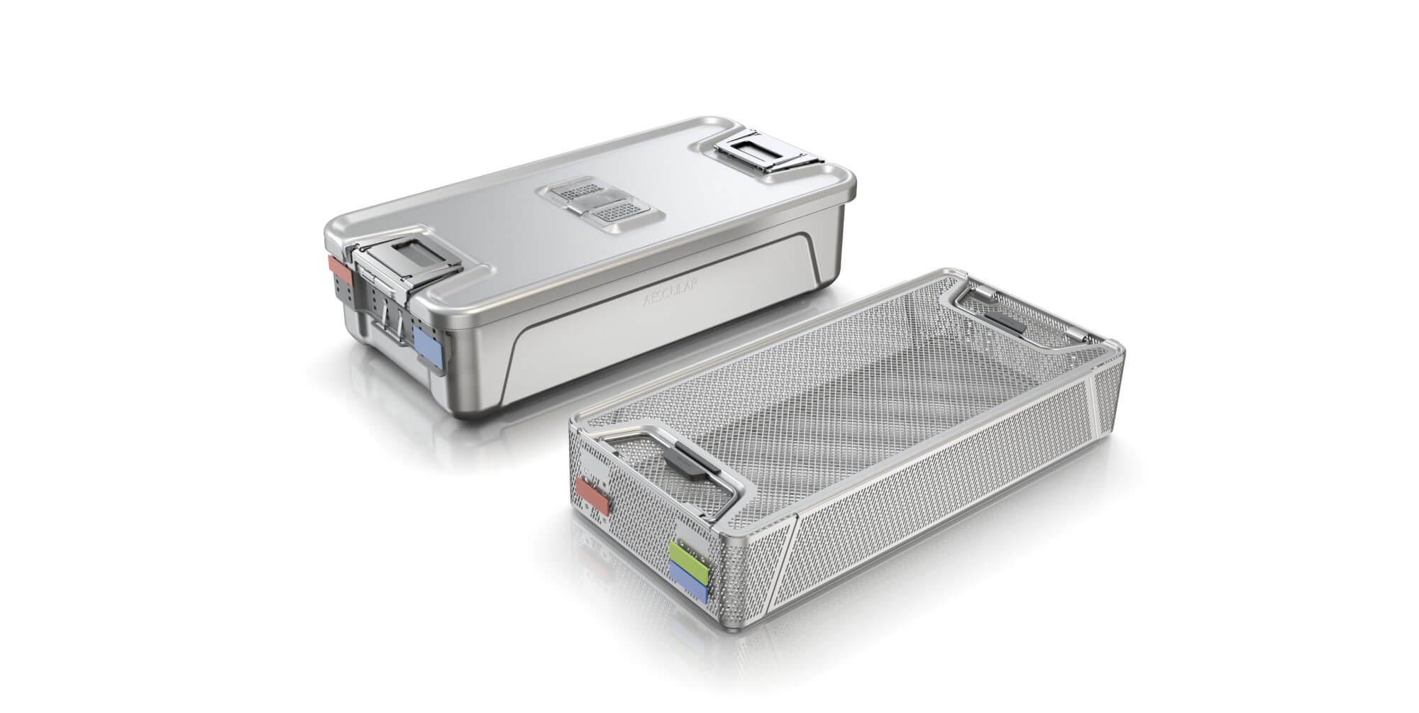 Aesculap Sterilgutcontainer System, User-centered Medical Design, Container, Siebkorb